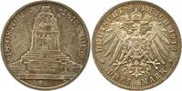 3 Mark 1913 Sachsen Friedrich August III. ...