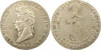 2/3 Taler 1829  C Braunschweig-Calenberg-Hannover Georg IV. 1820-1830. ... 275,00 EUR free shipping