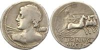 Denar  Republik C.Licinius L.F. Macer 84. ...