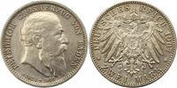 2 Mark 1907 Baden Friedrich I. 1856-1907. ...