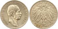 2 Mark 1907  E Sachsen Friedrich August II...