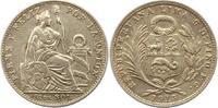 1/5 Sol 1915 Peru  Sehr schön - vorzüglich