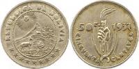50 Centavos 1937 Bolivien Republik. Sehr s...