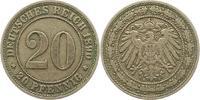 20 Pfennig 1890  E Kleinmünzen  Sehr schön