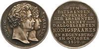 Silbermedaille 1830 Bayern Ludwig I. 1825-...