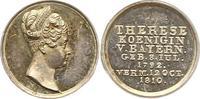 Silberne Miniaturmedaille 1810 Bayern Maxi...