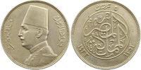 5 Piaster 1933 Ägypten Fuad 1917-1937. Sch...
