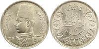 5 Piaster 1937 Ägypten Farouk 1936-1952. V...
