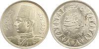 5 Piaster 1939 Ägypten Farouk 1936-1952. V...