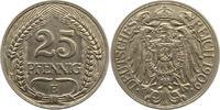25 Pfennig 1909  E Kleinmünzen  Fast vorzü...