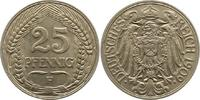 25 Pfennig 1909  F Kleinmünzen  Vorzüglich...