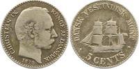 5 Cent 1879 Dänisch-Westindien Christian I...