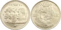 100 Francs 1954 Belgien-Königreich Baudoui...