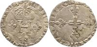 1/4 Ecu 1588 Frankreich Heinrich III. 1574...