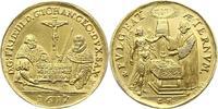 Vergoldete Silbermedaille 1617 Sachsen-Alb...