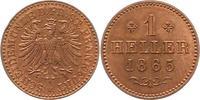 Heller 1865 Frankfurt-Stadt  Stempelglanz