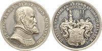 Zinnmedaille mit Kupferstift 1844 Henneber...