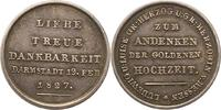 Silbermedaille 1827 Hessen-Darmstadt Ludwi...