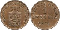 Pfennig 1872 Hessen-Darmstadt Ludwig III. ...