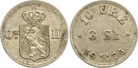 10 Öre zu 3 Skilling 1 1875 Norwegen Unter...