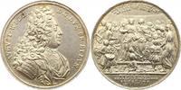 Silbermedaille 1717 Braunschweig-Wolfenbüttel August Wilhelm 1714-1731. Vorzüglich
