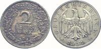 2 Mark 1931  D Weimarer Republik  vorzüglich