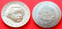 5 Mark 1979 DDR Albert Einstein Stempelglanz