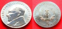 5 Mark 1989 DDR Carl von Ossietzky Stempel...