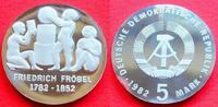 5 Mark 1982 DDR Friedrich Fröbel Polierte ...
