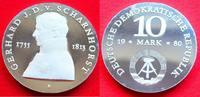 10 Mark 1980 DDR von Scharnhorst silber in...