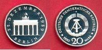 20 Mark 1990 DDR Brandenburger Tor 1990 Si...