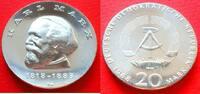 20 Mark 1968 DDR Karl Marx Stempelglanz