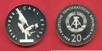 20 Mark 1988 DDR Carl Zeiss Silber in Kaps...