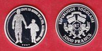 1000 Francs 2007 Togo Spieler und Kind - F...