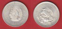 5 Pesos 1948 Mexiko Cuauhtemoc bankfrisch