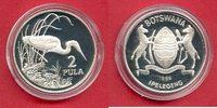 2 Pula 1986 Botswana Braunkehlreiher, Tier...