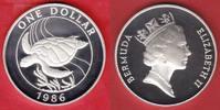1 Dollar 1986 Bermudas Meeresschildkröte, ...
