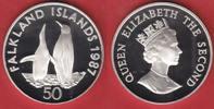 50 Pence 1987 Falkland Inseln Königspingui...