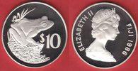 10 Dollar 1986 Fiji Fidschifrosch, Tierwel...
