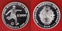 1000 Pesos 2003 Uruguay Fußballspieler - F...