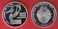 1000 Pesos 2004 Uruguay Stilisierter Torwa...