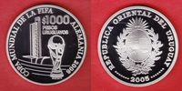 1000 Pesos 2005 Uruguay Pokal - Fußball WM...