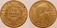 10 francs 1857 A frankreich napoleon III. ss