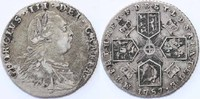 Sixpence 1787 England King George III. ss ...