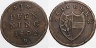 1 Pfennig 1802 ERZBISTUM SALZBURG Hieronym...