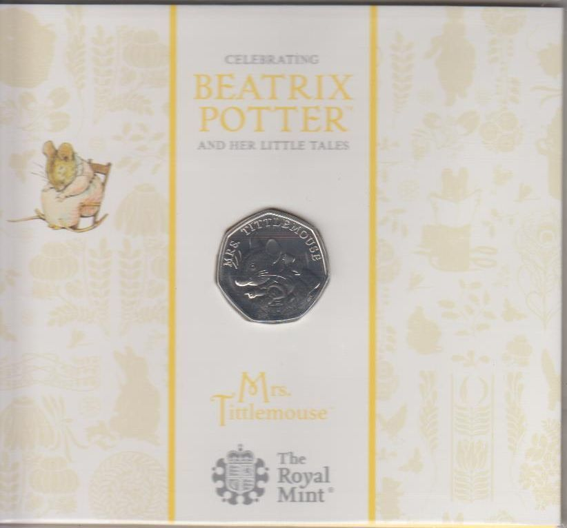 50 Pence 2018 Großbritannien Great Britain Beatrix Potter