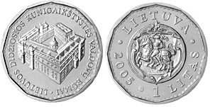issue 2005 UNC LITHUANIA 1 Litas