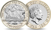 2 Pound 2016 Großbritannien - Great Britain Great Fire - London is burn... 19,00 EUR  Excl. 10,00 EUR Verzending