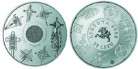50 Litu   2008 Litauen Lithuania 50 litas coin issued for participation... 45,00 EUR  Excl. 10,00 EUR Verzending