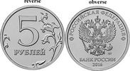 5 Rubel 2016 M Rußland Circlulation coin with new Eagle ( czarist doppe... 2,00 EUR  +  10,00 EUR shipping